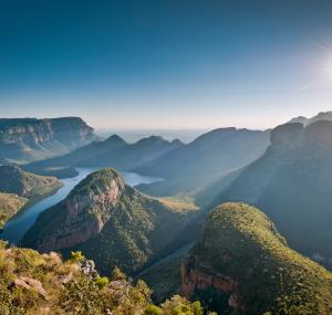Zonneschijn over de Blyde River Canyon
