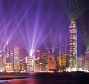 Lasershow in Hong Kong