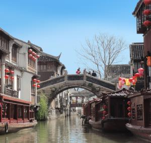 Straatbeeld in Suzhou