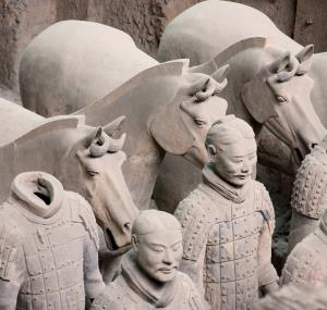 Terracottasoldaten en paarden in Xi'an