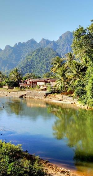 Nam Song rivier in Vang Vieng