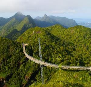 Sky Walk Bridge in Langkawi