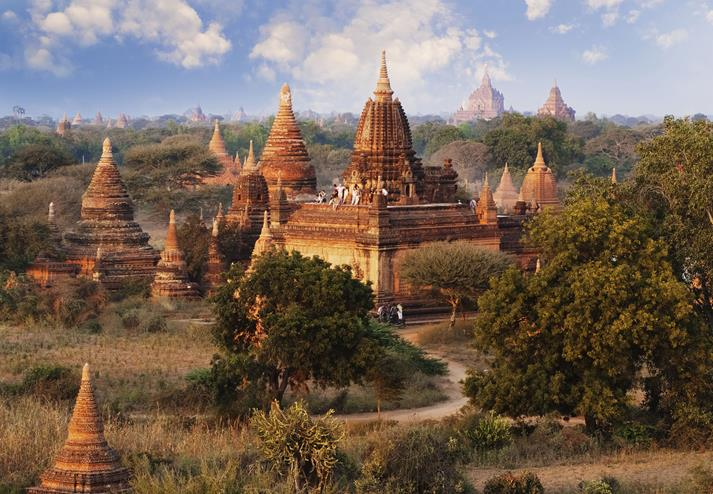 Pagodes in Bagan