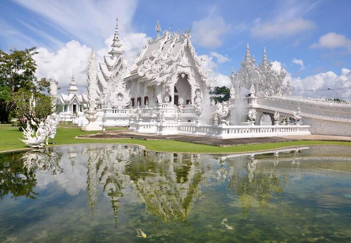 Witte tempel in Chaing Rai