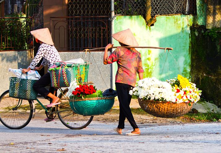 Straatbeeld in Hanoi