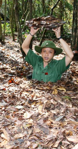 Cu Chi tunnels in Saigon