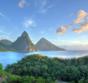 De pitons in St. Lucia