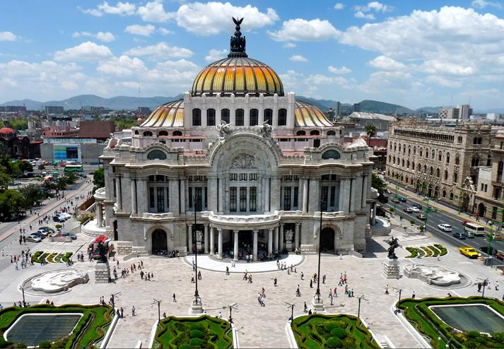 Palacio de Bellas in Mexico-City