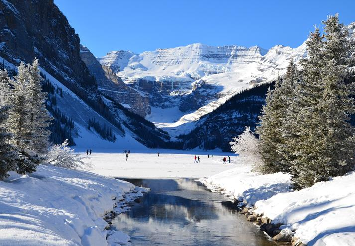 Lake Louise in Nationaal park Banff