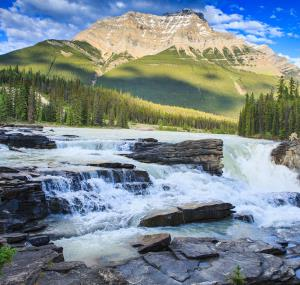 Athabasca Falls in de Rocky Mountains