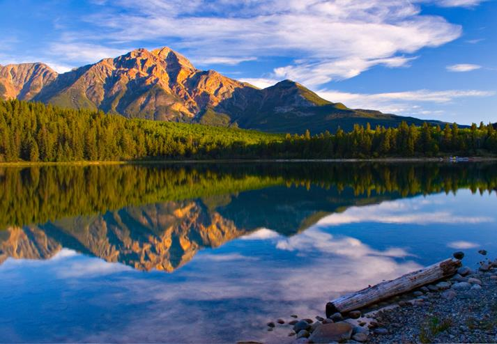Maligne meer in Jasper National Park