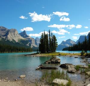 Spirit Island in Jasper National Park