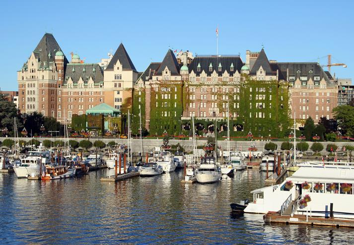 The Empress en haven in Victoria