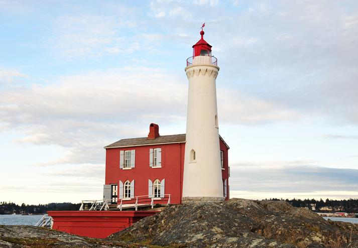 Vuurtoren Fisgard Light in Victoria