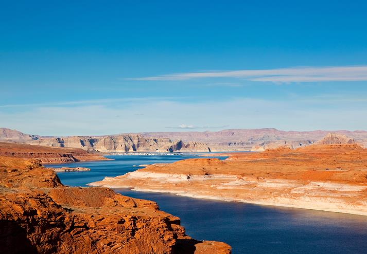 Uitzicht over Lake Powell