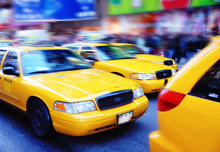 Gele taxi's in New York