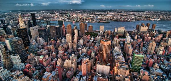 Uitzicht over de stad New York