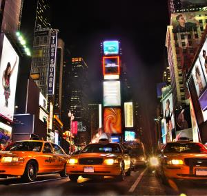 Taxi's op Times Square