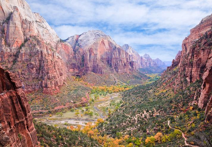Uitzicht over Zion National Park