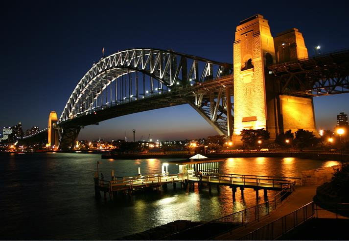 Sydney Harbour Bridge 's nachts