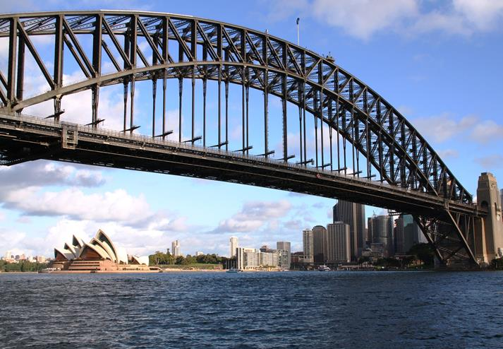 Sydney Harbour Bridge en Sydney Opera House