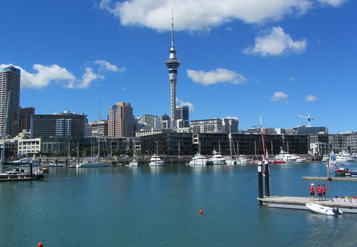 De Sky Tower in Auckland