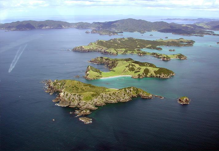 Luchtfoto van Bay of Islands