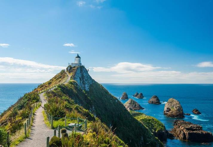 Vuurtoren bij Nugget Point in Catlins
