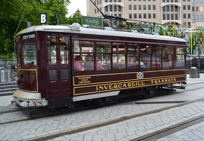 Tram in Christchurch