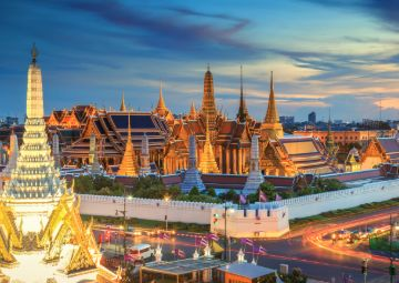 Grand palace and Wat phra keaw in Bangkok, Thailand