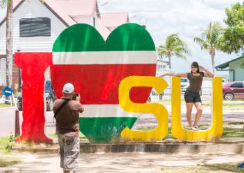 I love Suriname bord