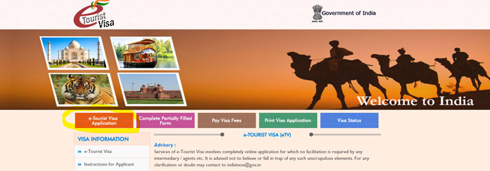 Website-visum-India