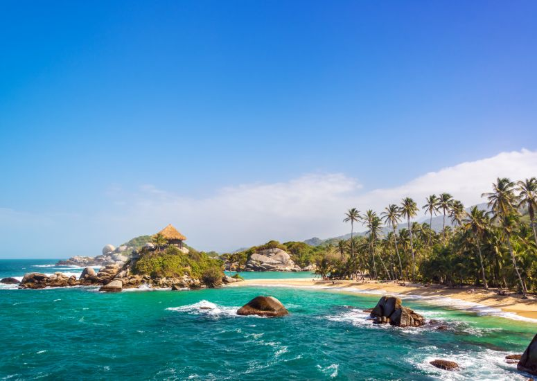 Strand van Tayrona National Park in Colombia