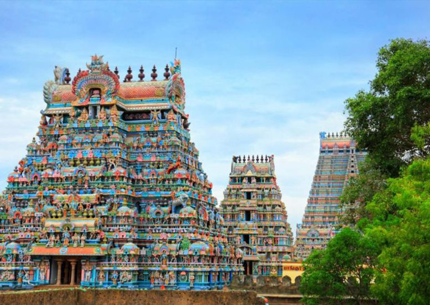 Meenakshi tempel in Madurai India