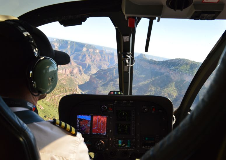 Helicoptervlucht in de Grand Canyon, VS